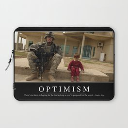 Optimism: Inspirational Quote and Motivational Poster Laptop Sleeve