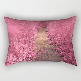 Windy Goose Creek Trail - Tickle Me Pink Rectangular Pillow