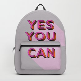 YES YOU CAN - typography Backpack