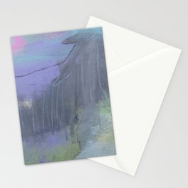 """""""shadow diver"""" abstract painting in modern fresh colors purple, pink, lime Stationery Cards"""