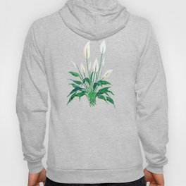 peace lily painting Hoody