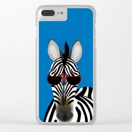 Shady Zebra Clear iPhone Case