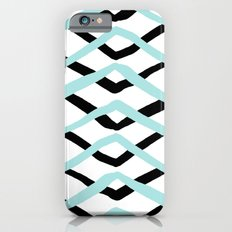 Pattern, turquoise and black iPhone 6s Slim Case