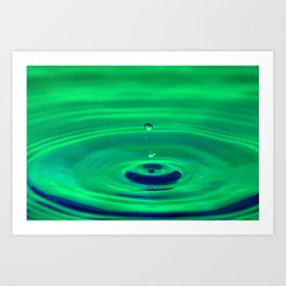 Peaceful - Emotions Water Drop Photography Art Print
