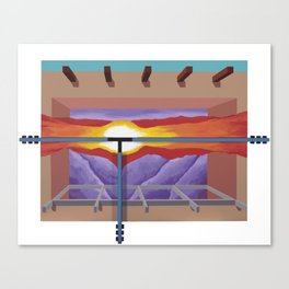 House of the Sun Cloud Canvas Print