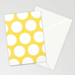 Large Polka Dots: Yellow Stationery Cards