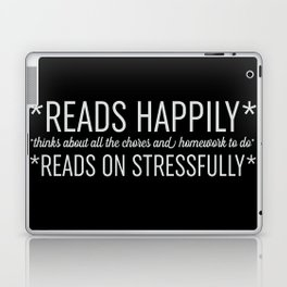 Reads Happily - Black Laptop & iPad Skin
