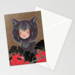 Fox Spirit Kitsune in Gingko Stationery Cards