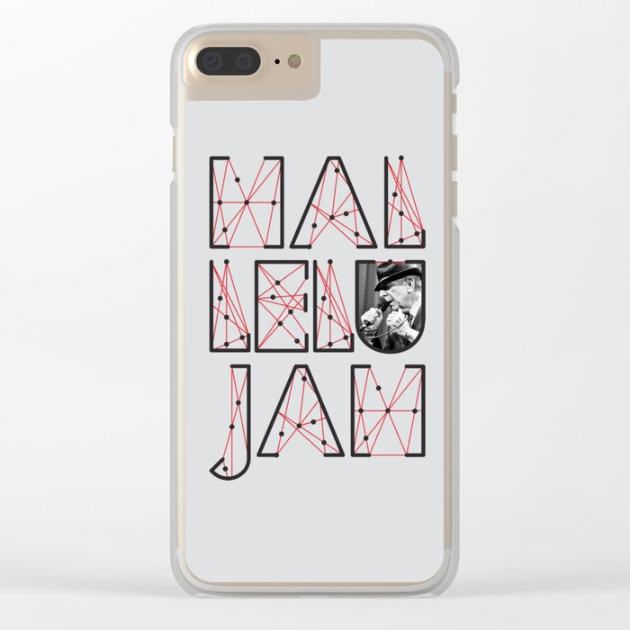 Leonard Cohen Hallelujah Clear iPhone Case