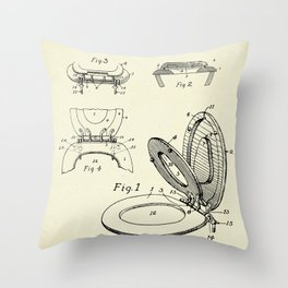 Toilet seat and Cover-1936 Throw Pillow