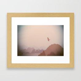Flying High over Halong Bay Framed Art Print
