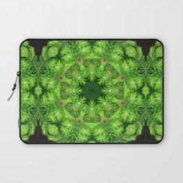 Spring green Canadian Hemlock mandala Laptop Sleeve