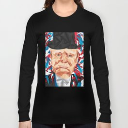 Portrait of Sir Winston Churchill Long Sleeve T-shirt