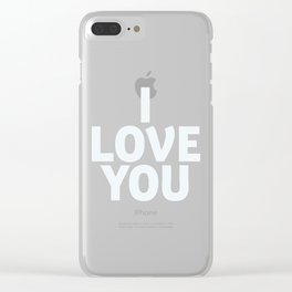 I love you, shocking pink, motivational typography, gift for her, inspirational quote, woman gift Clear iPhone Case