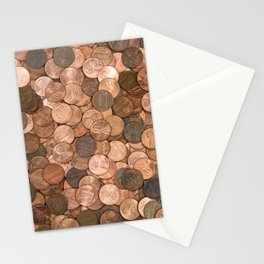 Pennies for your thoughts Stationery Cards