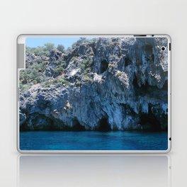 NATURE'S WONDER #4 - BLUE GROTTO #art #society6 Laptop & iPad Skin