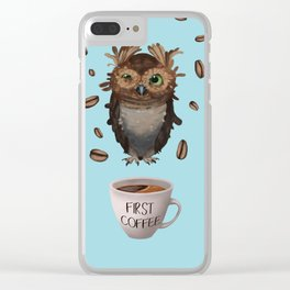 Coffee First Clear iPhone Case