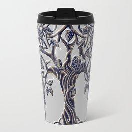 Tree of Life Silver Travel Mug
