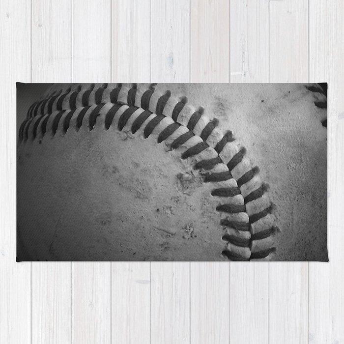 Baseball Rug: Baseball Rug By Christyleigh