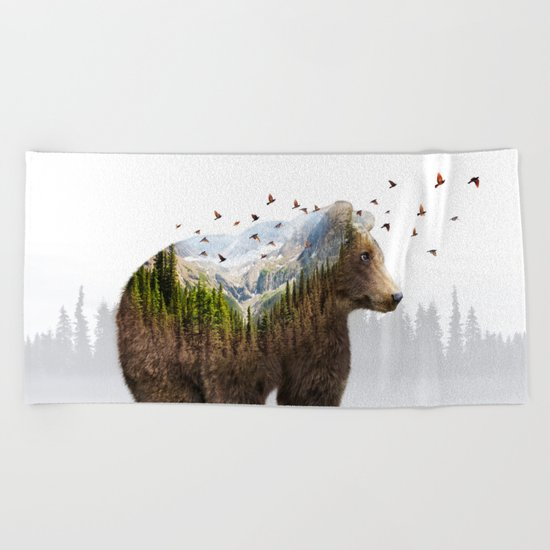 Wild I Shall Stay | Bear Beach Towel