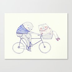 bicycle cat Canvas Print