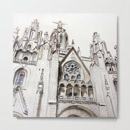 Gothic cathedral, architecture, original graphic art Metal Print