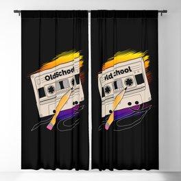 Old School Memories Blackout Curtain