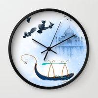 voyage Wall Clocks featuring VOYAGE by dirdamal