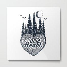 Nature. Wild Heart Metal Print