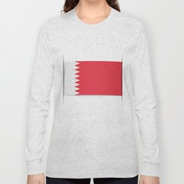 Flag of Bahrain. The slit in the paper with shadows. Long Sleeve T-shirt