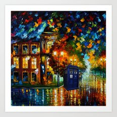 tardis  In a romantic evening Art Print