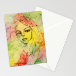 Rainbow romance Stationery Cards
