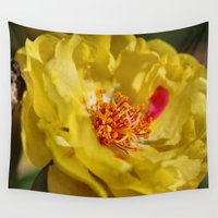 moss Wall Tapestries featuring Moss Rose by IowaShots