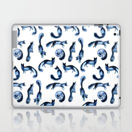 A pack of silver foxes. Laptop & iPad Skin