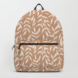 Foliage on Taupe Backpack