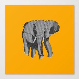 Newspaper Elephant Canvas Print