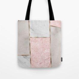 Pink stones - rose gold adorns Tote Bag