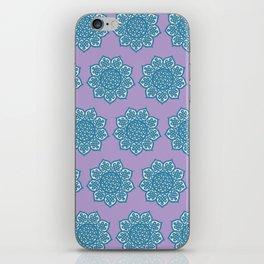 Celtic Mandala Lavender and Aqua iPhone Skin
