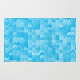 Aqua Blue Waves Rug