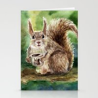 squirrel Stationery Cards featuring Squirrel by Anna Shell