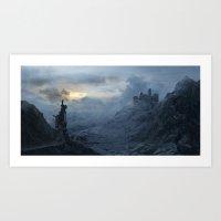 Frozen dawn Art Print