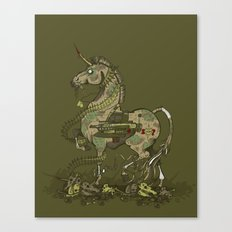 Unicorn of War Canvas Print