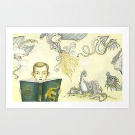 Tolkien's Childhood Dragons Art Print