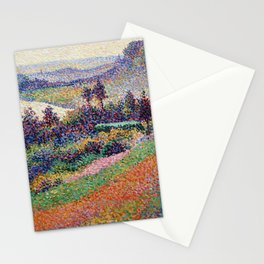 """Gorgeous French Countryside Landscape """"La Senna"""" by Maximilien Luce, 1890 Stationery Cards"""