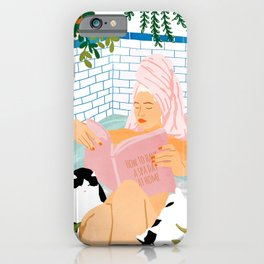 How To Have A Spa Day At Home #illustration iPhone Case