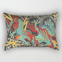 Japanese Dragon Tattoo Art Rectangular Pillow