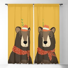 Brown Bear Print, Blackout Curtain