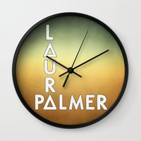 laura palmer Wall Clocks featuring Bastille - Laura Palmer #2 by Thafrayer