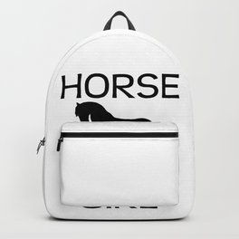 Horse Girl I Love Horse Riding Black Backpack
