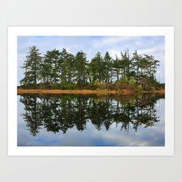 Coastal Lake Reflection Art Print
